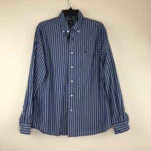 Button Down Blue and White Striped Long Sleeve